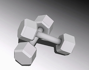3D model low-poly Dumbbells