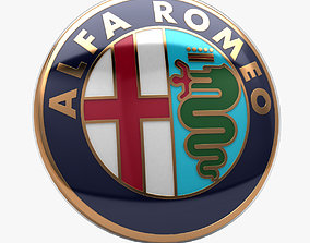 Alfa Romeo Badge 1982 and after 3D model