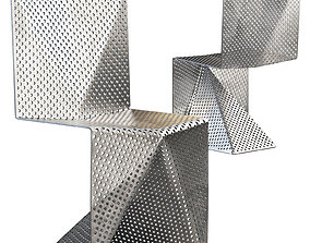 Aluminum Chair by Tobias Labarque 3D model