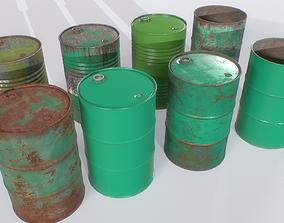 Barrel PBR Pack 3 3D asset realtime