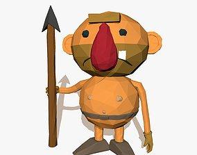 3D model Cartoon Caveman