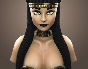 skull Bastet Egyptian Goddess Bust 3D Print