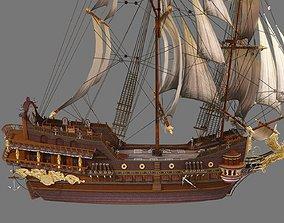 3D model Treasure ship Ancient Chinese sailing 2