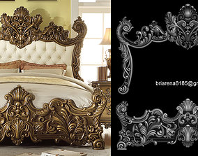 Classic Bed 3D relief models machines