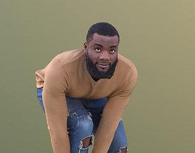 Gabriel 10636 - Casual Black Man Ties His Shoes 3D model