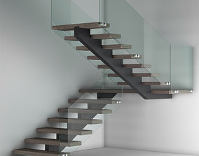 L-Type Stair Case 3D