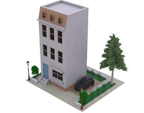Villa single building 3D modeling source home