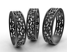geometry ring whith gems 3D print model