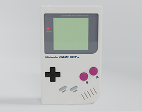 poly 3D model Nintendo GameBoy