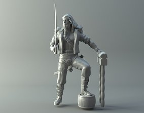Pirate figurine 3D printable model