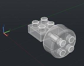 3D printable model Print Block Small Wheels