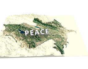ARMENIA and AZERBAIJAN Terrain digital model landscape 1