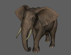 3D printable model obj Elephant