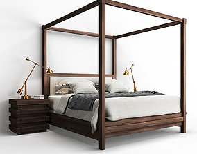 Restoration Hardware STACKED Bed and 3D