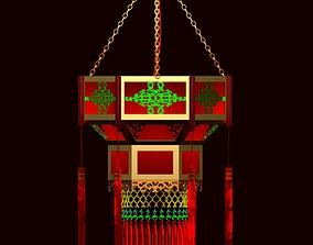 Chinese Palace lantern 3D model round