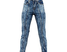 3D model Patchy Jeans Trousers