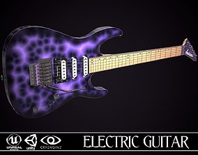 3D model Electric Guitar Jackson Dinky Violet Wave