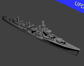 Japanese Yugumo Class Destroyer Warship 3D printable model