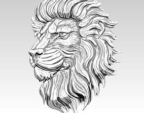3D printable model Lion relief flat