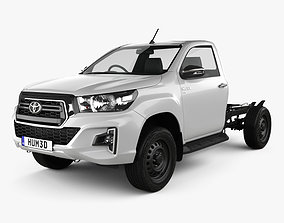 3D Toyota Hilux Single Cab Chassis SR 2019