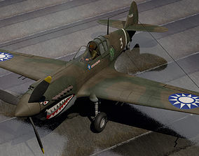 Curtiss P-40B Warhawk - Flying Tigers 3D