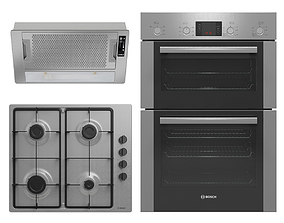 Collection of household appliances BOSCH and ELICA 3D