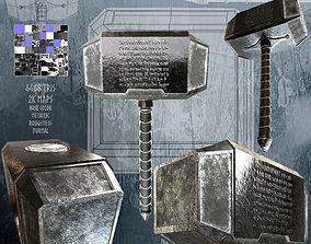 3D model Thor Hammer Mjoelnir