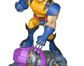 3D print model Wolverine vs sentinel