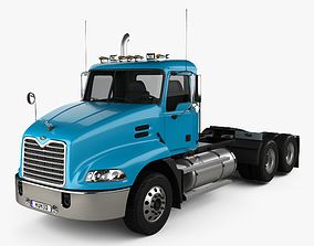 3D model Mack Vision CXN613 Day Cab Tractor Truck 3-axle