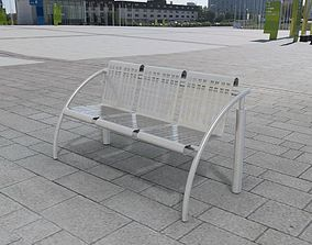 Bench stainless steel 3D