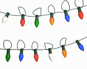 String Christmas light 3D model