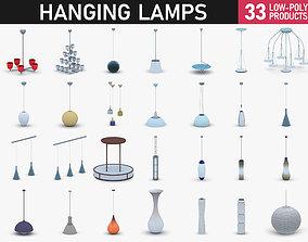 Interior Light Vol 2 - Hanging Lamp 3D model realtime