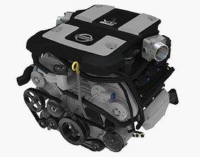 3D asset Nissan 370z VQ37VHR engine