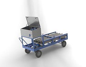 3D model nitro service cart