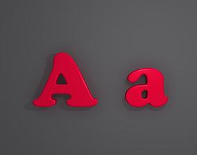 3D model Letters alphabet 02