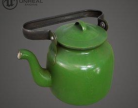 Green Teapot 3D asset