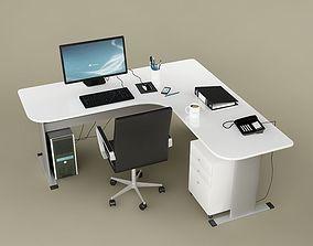 3D Desk Office 02