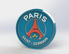 Paris Saint Germain Logo 3D printable model