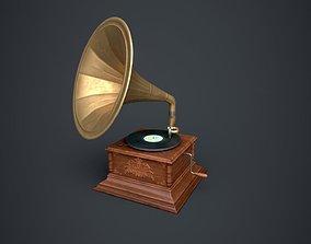 Gramophone 3D model realtime