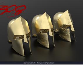 300 - Spartan Helmets 3D printable model spartan
