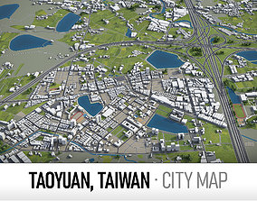 Taoyuan - city and surroundings 3D asset