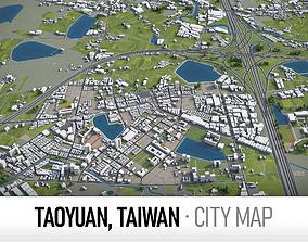 Taoyuan - city and surroundings 3D asset
