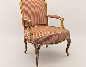 3D model Baroque armchair - Around 1900