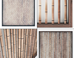 3D Bamboo decor wall n8
