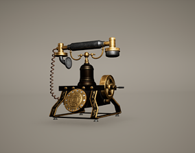 3D asset Telephone Low Poly Game Ready