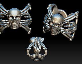 X Skull Ring 3D printable model