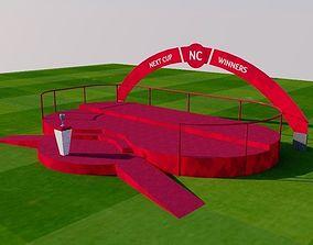 Winner sport podium 3D asset