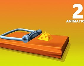 Mouse Trap Animated 3D model