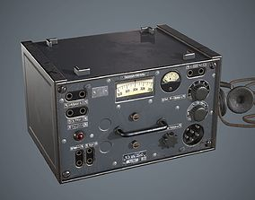 Radiostation WW2 3D asset
