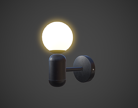 Night Lamp Wall Mounted 3D asset game-ready